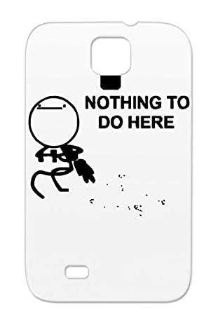 Nothing To Do Here Meme Black Cover Case For Sumsang Galaxy