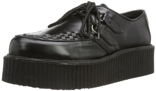 Demonia by Pleaser 502 Veggie Creeper,Black PU,11 M US Men/13 M US - My Platform 2