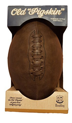 Amazon Com Wembley Old Pigskin Vintage Style Tailgate Football By