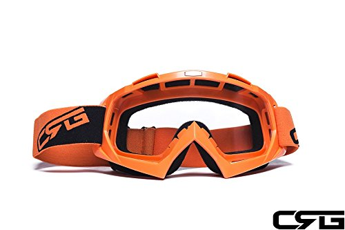 CRG Sports Motocross ATV Dirt Bike Off Road Racing Goggles ORANGE T815-7-6 T815-7-6 - Parent