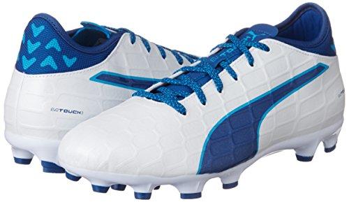 Danube Chaussures Evotouch puma 3 White Blue blue Blanc De true Football Ag Puma 02 Hommes Pour qrwq6a