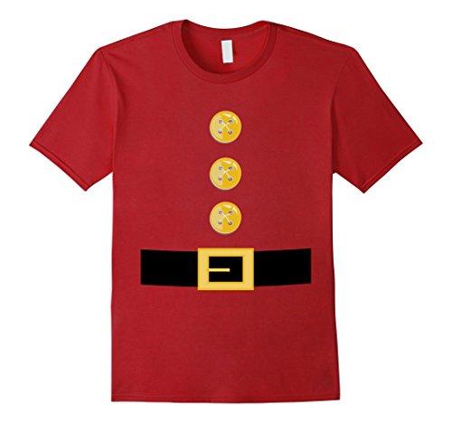 Garden Elf Costume (Mens Funny Elf or Garden Gnome Halloween Costume T-Shirt XL Cranberry)