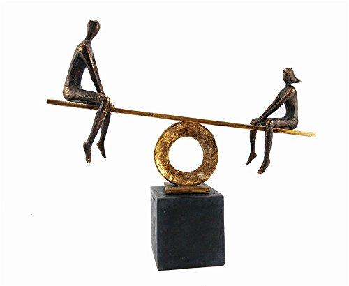 Sagebrook Home 13082-02 Polyresin Figurine, 17.75 x 5 x 16, Black/Gold (Vintage Figurines Kd)