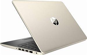 HP 14 Inch HD WLED-backlight Business Laptop | Intel Core i3-7100U 2.4GHz | 8GB DDR4 RAM | 128GB SSD | Gigabit Ethernet | SD Memory Card | WIFI | Bluetooth | HDMI | USB Type-C | WIndows 10 Home | Gold