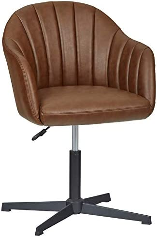 Stone Beam Modern Swivel Chair, 22.8 W, Brown