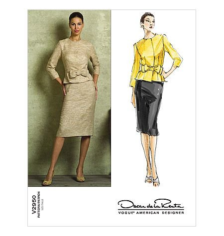 Vogue Oscar de la Renta Jacket Belt and Skirt Pattern (Vogue Belt)