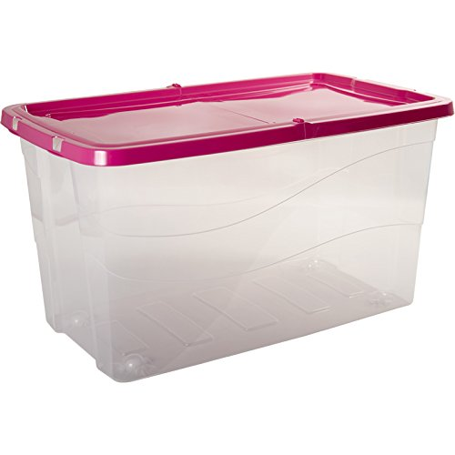 HEGA Pisa Container with Swinging Lid 90 Litre Strawberry One Size