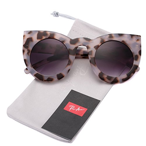 Pro Acme Fashion Women Bold Rim Oversized Round Cat Eye Sunglasses - Frames Tortoise Eye Cat
