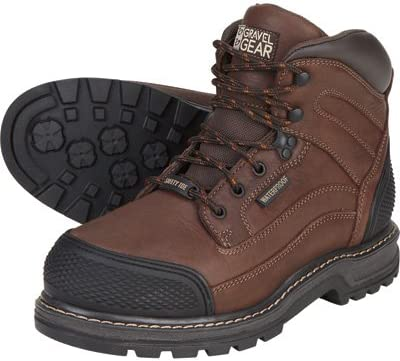 Gravel Gear Waterproof 6in. Steel Toe Work Boot