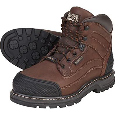a9ede81ea50 Gravel Gear Waterproof 6in. Steel Toe Work Boot - Brown