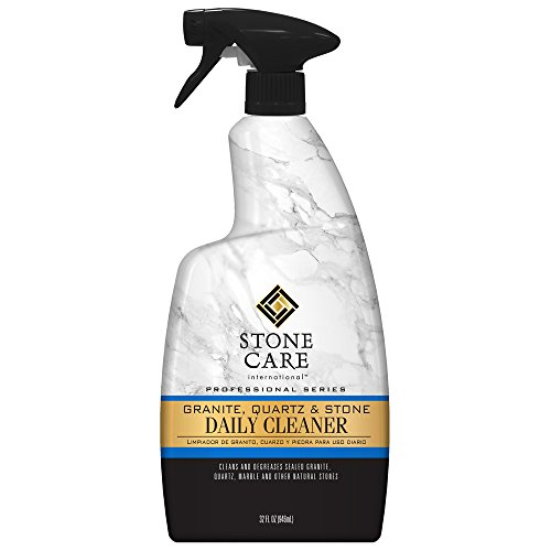 International Wax - Stone Care International Granite Cleaner - 32 Fluid Ounces Granite Quartz Tile Travertine Limestone Slate Clean