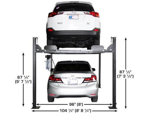 Atlas Apex 8 ALI Certified Hobbyist 8,000 Lb Capacity 4 Post Parking Car Lift