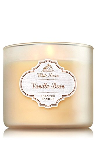 - Bath & Body Works White Barn Vanilla Bean 3-Wick Jar Candle, 14.5oz