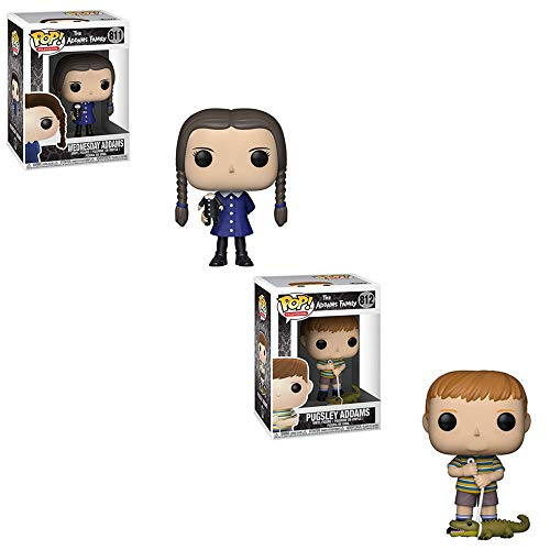 Funko POP! Television The Addams Family: Wednesday Addams and Pugsley Addams Toy Action Figure - 2 POP Bundle -