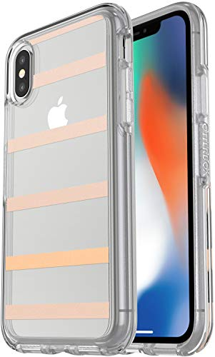OtterBox Symmetry Series Slim Case for iPhone Xs & iPhone X - Clear/Inside The Lines