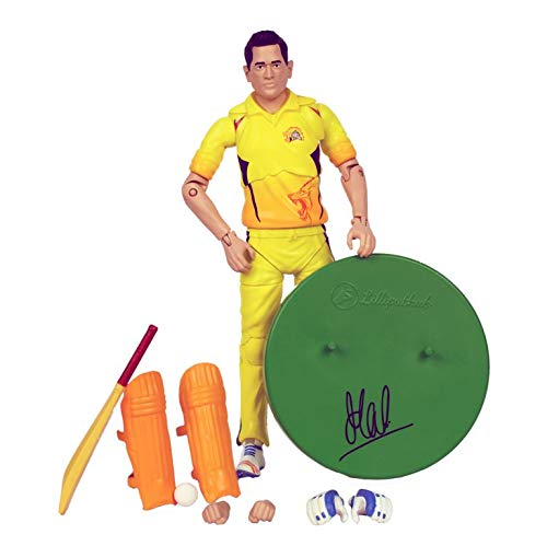 Autograph Authentic Style Jersey - LilliputHub Chennai Super Kings Action Figures - (Dhoni Action Figure)