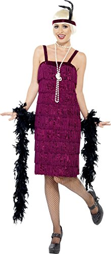 Womens Jazz Flapper Costumes (Smiffy's Women's Jazz Flapper Costume, Dress and Headpiece, 20's Razzle Dazzle, Serious Fun, Size 14-16, 26110)