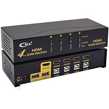 41nucfEKOCL._SL500_AC_SS350_ amazon com ckl hdmi usb kvm switch 4 port, pc monitor keyboard  at fashall.co