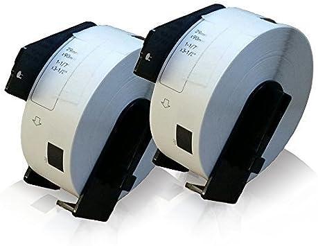 5x kompatible Adress Etiketten Rollen für Brother P-Touch QL 500 BW 550 Office P