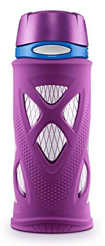 ZULU Shorty Tritan Plastic Water Bottle, Purple, Standard