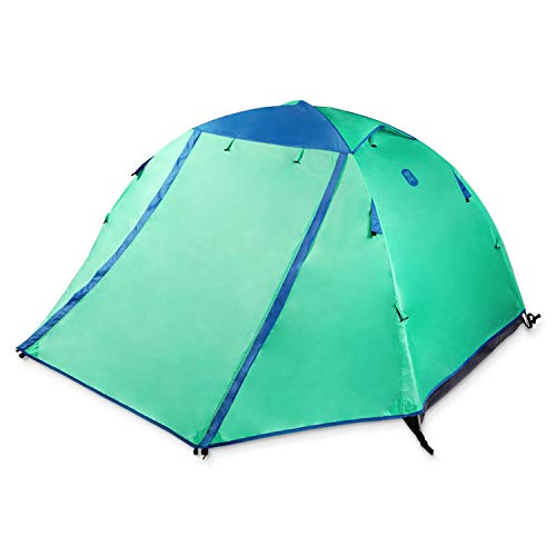 Zenph Family Camping Tents, 2 Person Rainproof Instant Camping Tent Automatic Waterproof Pop up Tents Summer Outdoor (4 Season Tent)