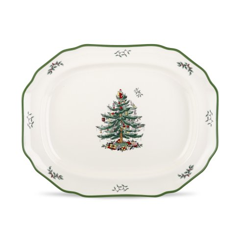 (Spode Christmas Tree Sculpted Platter, 19-Inch)