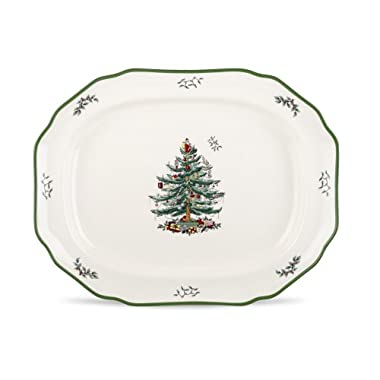Spode Christmas Tree Sculpted Platter, 19-Inch