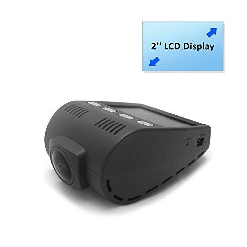 (Pyle Dash Cam Car Recorder DVR - 2 Inch Monitor Blackbox Rear Camera View Full Color HD 1080p Video Security Loop Camcorder - PiP Night Vision Audio Record Micro SD)