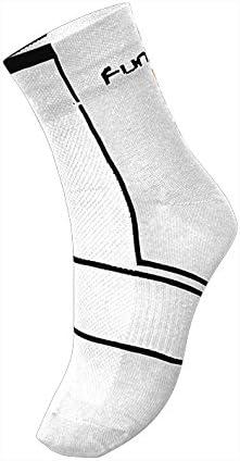 Funkier Summer Cycling Socks Forano Unisex 5 Airflow Summer Bike Socks 39-42 White