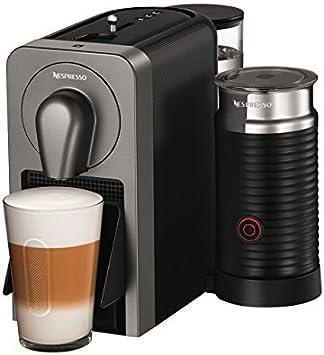 Nespresso XN411T Krups Prodigio & Milk-Cafetera (1260 W, 220-240 V, 19 Bares de presión, Bluetooth), Gris, 1700 W, 1 ...