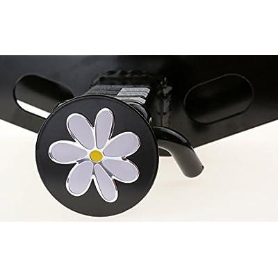 LFPartS Plumeria Flower 3D Chrome Emblem Metal Trailer Hitch Cover Fits 2