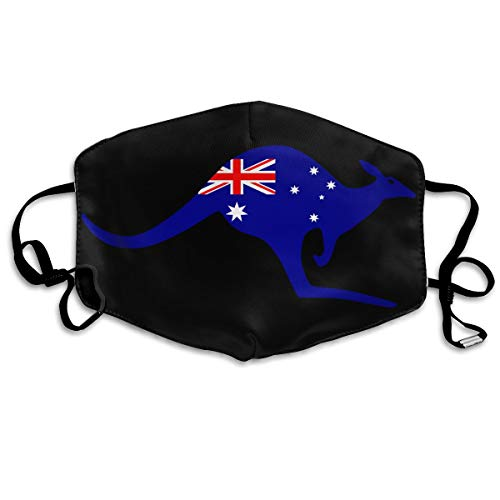 SyjTZmopre Australia Mouth Mask Unisex Printed Fashion Face Anti-dust Masks -