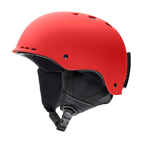 Red Snow Helmets - Smith Optics Holt Adult Ski Snowmobile Helmet - Matte Rise/Large