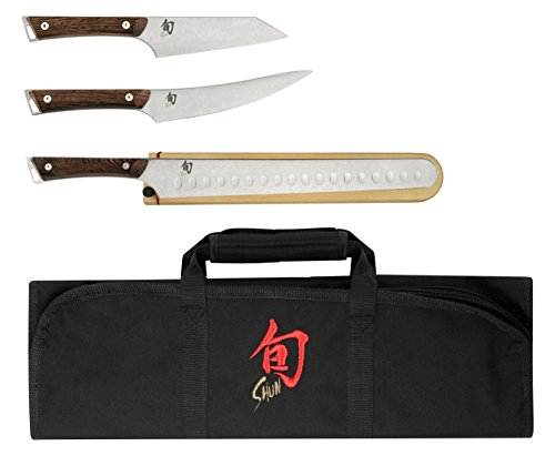 Shun SWTS0450 Japanese Cutlery Kanso 4-Piece BBQ Knives Set, One size, Silver by Shun (Image #1)