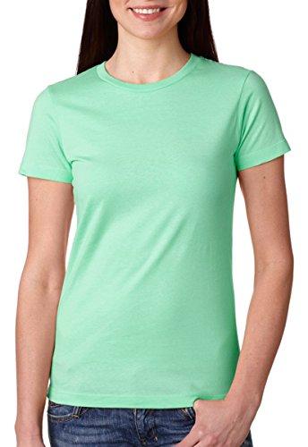 Next Level Apparel Women's Tear Away Label T-Shirt, Mint, (Labels Mint)