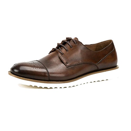Casuales De Tendencia Zapatos Encaje Derby Coffeecolor Negocios Oxford Hombre Inglaterra Dean Tallado Zapatos Nuevo Cruz XwaTHqxfOP