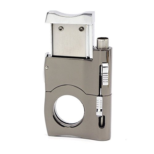2019 Cigar Cutter Built In Two Cigar Punch - Silver Color Chrome Finish - Self Sharpening Blades - Stainless Steel - Black Gift Box - Suitable for Travel - Smoking Accessories - Gifts for Dad by BSWEEII (Image #9)