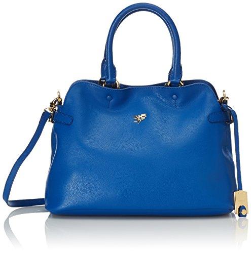 piero guidi Magic Circus Classic Leather Borsa a Mano, 33 cm, Blu Cobalto