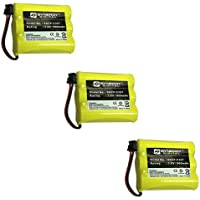 Radio Shack ET920 Cordless Phone Battery Combo-Pack includes: 3 x SDCP-C307 Batteries