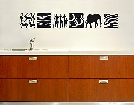 Adesivo da parete no br african piastrelle wild cacciatore