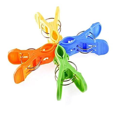 BestKept - Pinzas para Toallas de Playa (4 Unidades, Colores Brillantes, para Evitar