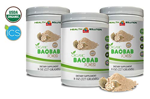 Anti-Aging Powder - Organic Baobab Powder - Digestive Health Support - 3 Cans 24 OZ (150 Servings) by Health Solution Prime (Image #7)