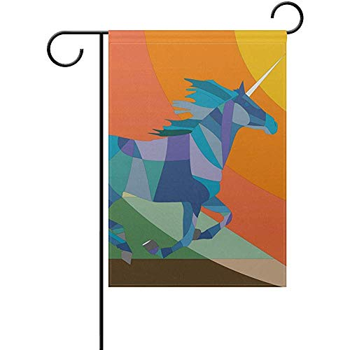 Horse 1908 (Johnnie Happiness Color Art Horse Welcome Garden Flag 12 X 18 Inches, Double Sided Seasonal Outdoor Flag and Best for Party Yard Home Decor)