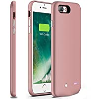 iPhone 7 Plus Battery Case,Sgrice Ultra-Slim (0.52 in) Lightweight(3.9oz) Portable Charger iPhone 7 Plus (5.5 inch)4880mAh Extended Battery Case Back Up Power Bank for iPhone 7 Back Up
