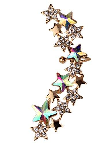 Crystal Star Wrap Cuff Earrings for Left Pierced Ear ()