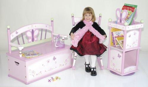 Wildkin Sugar Plum Toy Box Bench