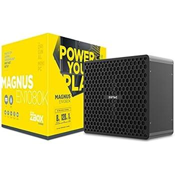 ZOTAC ZBOX MAGNUS EN1080K Liquid-Cooled Gaming Mini PC Intel Kaby Lake Core i7-7700 NVIDIA GeForce GTX 1080 8GB GDDR5X VR ready 8GB DDR4, 1TB HDD Windows 10 (ZBOX-EN1080K-U-W2B)