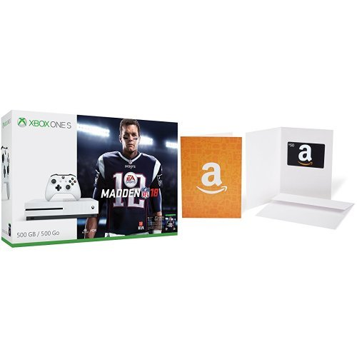 Xbox One S 500GB Console – Madden NFL 18 Bundle + $50 Amazon.com Gift Card