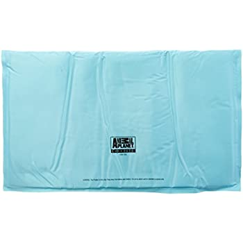 """ANIMAL PLANET 36"""" x 20"""" Indoor Self Cooling Pet Cool Mat in Assorted Colors, Large, Blue/Green"""