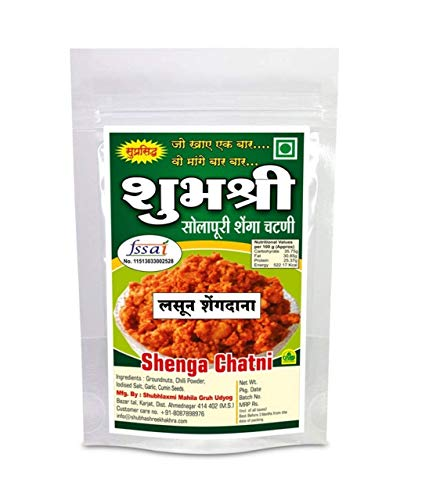 Shubhashree Garlic Peanut Shenga Chutney Hand Made SPL SOLAPUR Home Made 100gram (Pack of 4) (B06WWKPPNB) Amazon Price History, Amazon Price Tracker